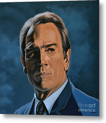 Tommy Lee Jones Metal Print by Paul Meijering