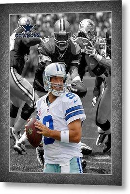 Tony Romo Cowboys Metal Print by Joe Hamilton
