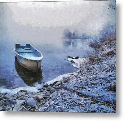 Too Cold For A Boat Trip Metal Print by Gun Legler