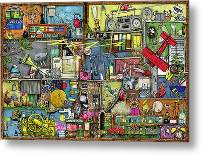 Too Loud Metal Print by Colin Thompson