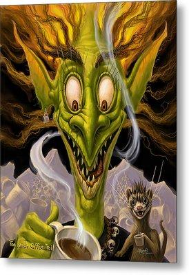 Too Much Coffee Troll Metal Print by Jeff Haynie