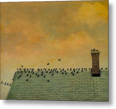 Top Of The Roof Metal Print by Gothicrow Images
