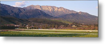 Topa Topa Bluffs Overlooking Ranches Metal Print by Panoramic Images