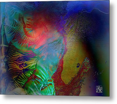 Topology Of Decalcomania Metal Print by Otto Rapp