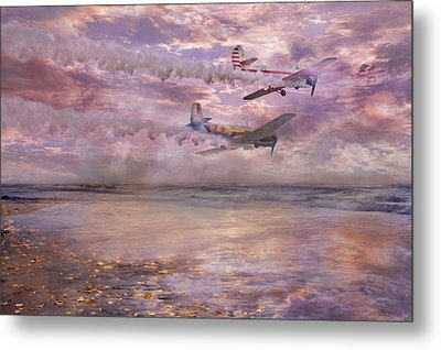 Topsail Flyers Metal Print by Betsy C Knapp