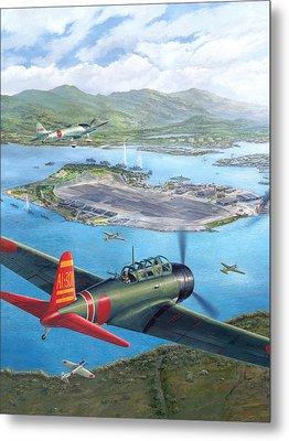 Tora Tora Tora The Attack On Pearl Harbor Begins Metal Print by Stu Shepherd