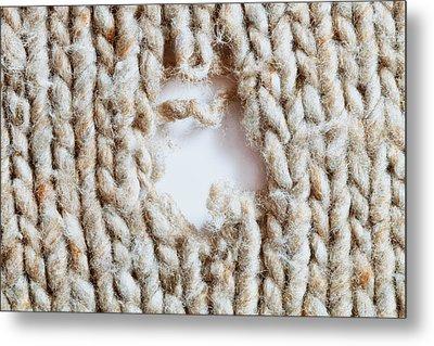 Torn Wool Metal Print by Tom Gowanlock