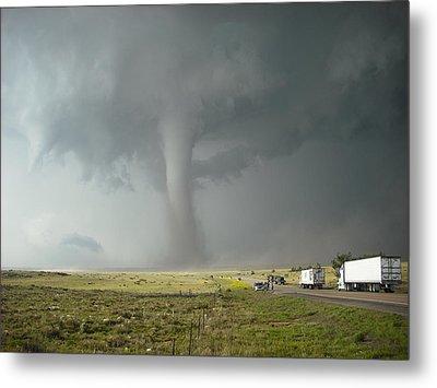 Tornado Truck Stop Metal Print by Ed Sweeney