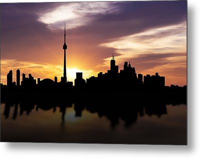 Toronto Canada Sunset Skyline  Metal Print by Aged Pixel