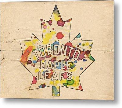 Toronto Maple Leafs Vintage Poster Metal Print by Florian Rodarte