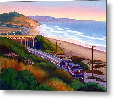 Torrey Pines Commute Metal Print by Mary Helmreich