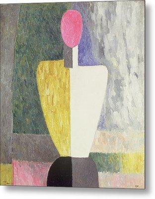 Torso, 1928-32 Oil On Canvas Metal Print by Kazimir Severinovich Malevich