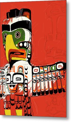 Totem Pole 02 Metal Print by Catf