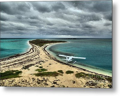 Touchdown At Tortugas Metal Print by Adam Jewell