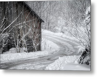 Touched By Snow Metal Print by Joan Carroll