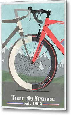 Tour De France Bicycle Metal Print by Andy Scullion