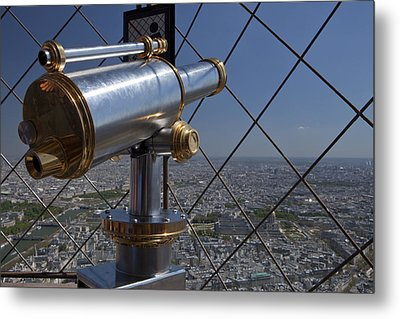 Tour Eiffel 9 Metal Print by Art Ferrier