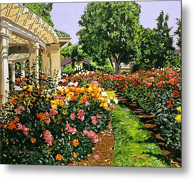 Tournament Of Roses II Metal Print by David Lloyd Glover