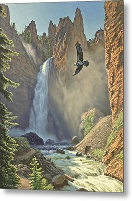 Tower Falls  Metal Print by Paul Krapf