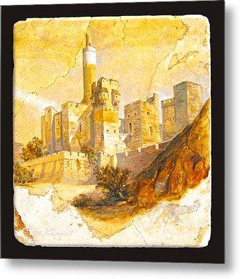 Tower Of David Metal Print by Miki Karni
