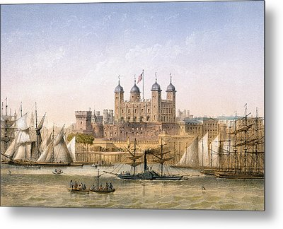 Tower Of London, 1862 Metal Print by Achille-Louis Martinet