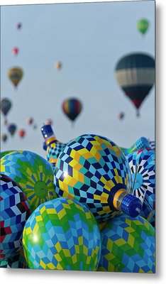 Toy Balloons At The Albuquerque Hot Air Metal Print by William Sutton