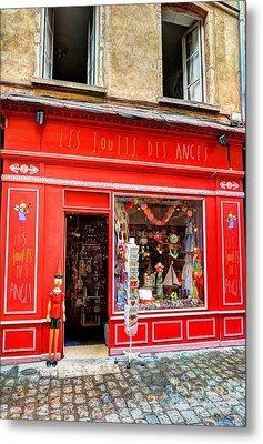 Toy Shop In Old Town Lyon Metal Print by Mel Steinhauer
