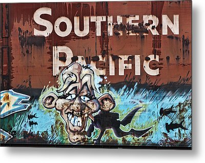 Train Art Swimming With Sharks Metal Print by Carol Leigh