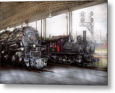Train - Engine - 1218 - End Of The Line  Metal Print by Mike Savad