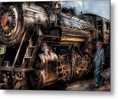 Train - Engine -  Now Boarding Metal Print by Mike Savad
