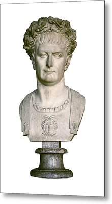 Trajan. 98 - 117. Bust With A Laurel Metal Print by Everett