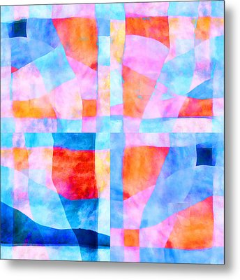 Translucent Quilt Metal Print by Carol Leigh