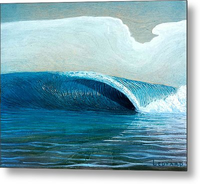 Transparent Sea Metal Print by Nathan Ledyard