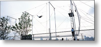 Trapeze School New York, Hudson River Metal Print by Panoramic Images
