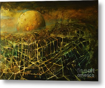 Trapped By The Moon Metal Print by Michal Kwarciak