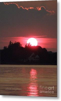 Tred Avon Sunset Metal Print by Lainie Wrightson