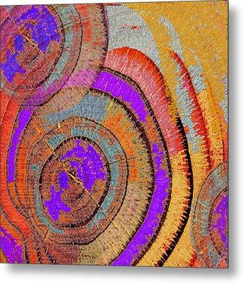 Tree Ring Abstract Metal Print by Tony Rubino