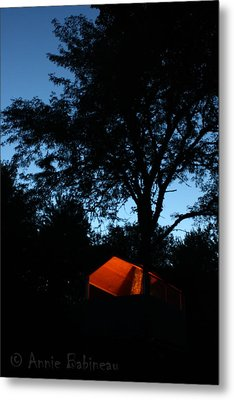 Treehouse Campout Metal Print by Anne Babineau