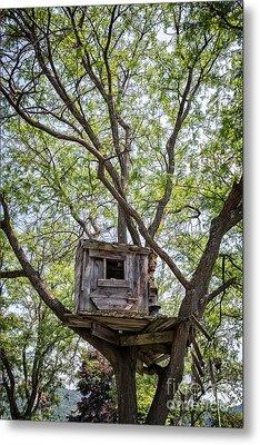 Treehouse Metal Print by Edward Fielding