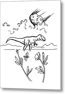 T.rex Metal Print by Richard Bizley