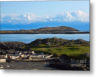 Trial Island And The Strait Of Juan De Fuca Metal Print by Louise Heusinkveld