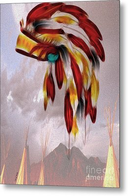 Tribal Metal Print by Cheryl Young