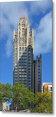Tribune Tower Chicago - History Is Part Of The Building Metal Print by Christine Till