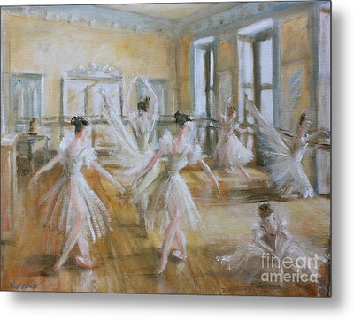 Tring Park The Ballet Room Metal Print by Yvonne Ayoub
