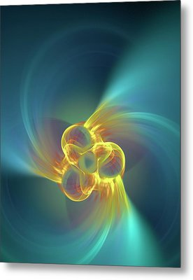 Triple Alpha Nuclear Fusion Metal Print by David Parker