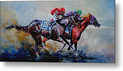 The Preakness Stakes Metal Print by Hanne Lore Koehler