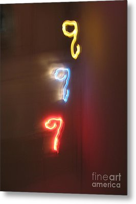 Triple Q. Dancing Lights Series Metal Print by Ausra Huntington nee Paulauskaite