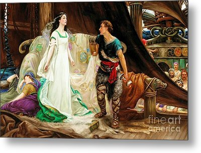 Tristan And Isolde Metal Print by Celestial Images