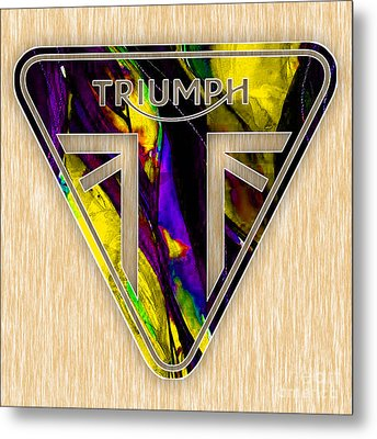 Triumph Motorcycles Metal Print by Marvin Blaine