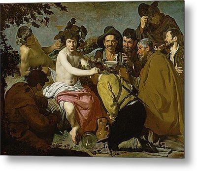 Triumph Of Bacchus, 1628 Oil On Canvas Metal Print by Diego Rodriguez de Silva y Velazquez